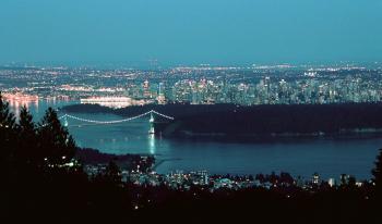 Vancouver Skyline, Night