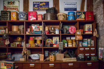 Various Containers in Store