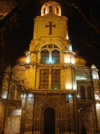 Varna cathedral at night