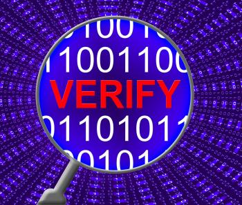 Verify Security Represents Genuine Computer And Encryption