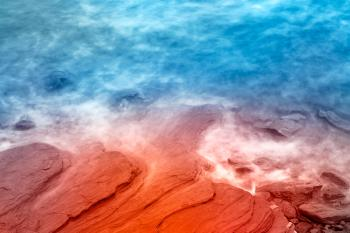 Vibrant Abstract Sandstone Coast