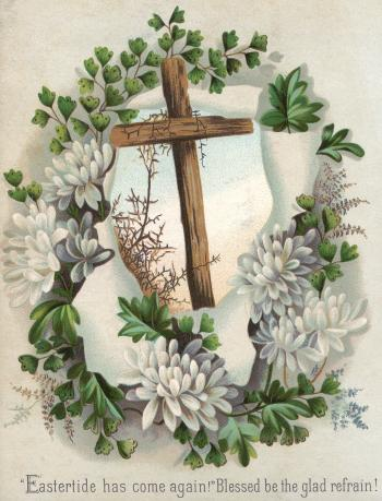 Victorian Greeting Card - Easter Cross