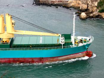 View of a Cargo Ship