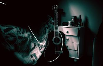 View of Guitar