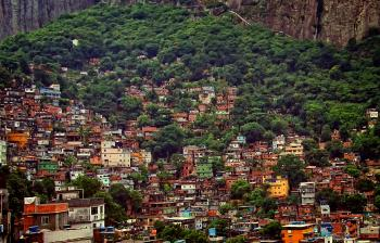 View Over Rocinha - The Largest Slum in Latin America - Rio de Janeiro