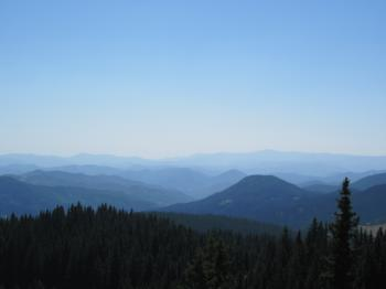 View over the mountains