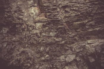 Vintage Basalt Rock Wall