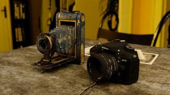 Vintage Camera and New