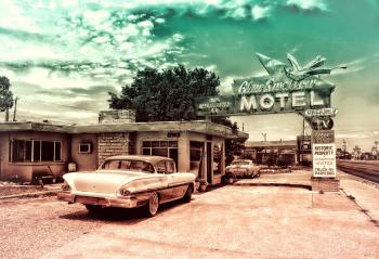 Vintage Car and Motel