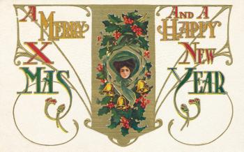 Vintage Christmas & New Year Card