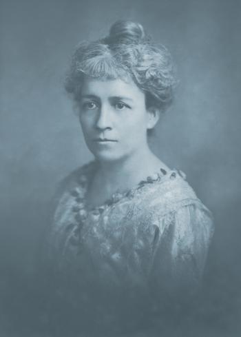 Vintage Cyanotype Portrait - Circa 1918