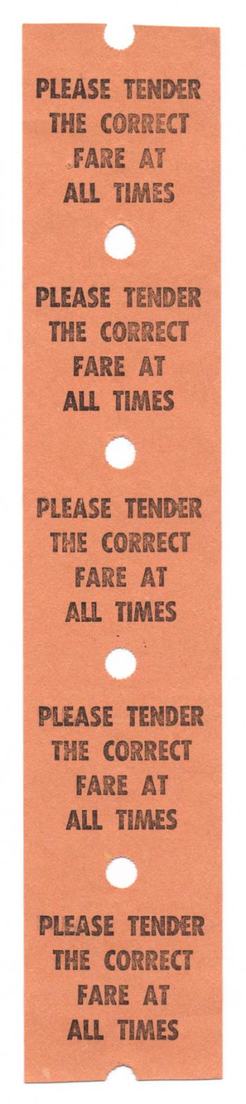 Vintage Fare Ticket x5