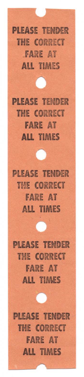 Vintage Fare Ticket x5