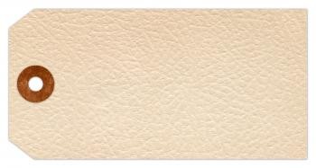 Vintage Paper Tag - White Leather