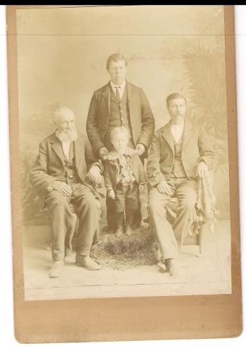 Vintage Photo Men and Boy