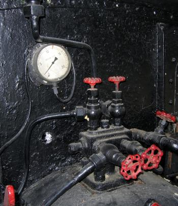 Vintage Pressure Gauge and Valves