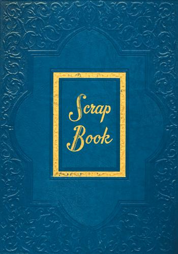 Vintage Scrapbook Cover - Blue