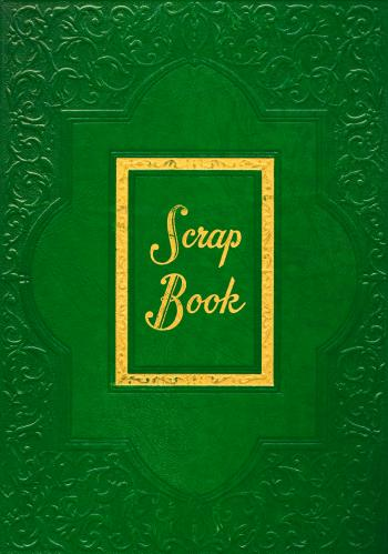 Vintage Scrapbook Cover - Green