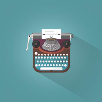 Vintage Typewriter - Illustration