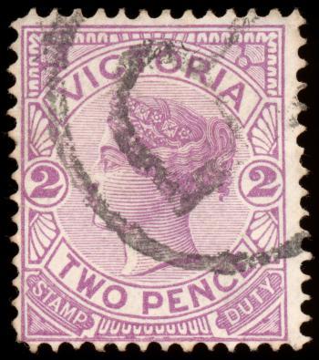 Violet Queen Victoria Stamp