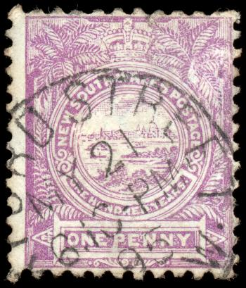 Violet View of Sydney Stamp