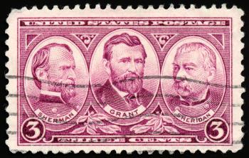 Violet War Stamp
