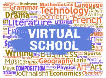 Virtual School Represents Web Site Learning And Education