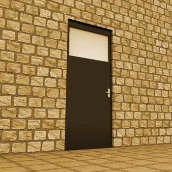 Vision Door Indicates Aspirations Plan And Aim