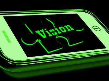 Vision On Smartphone Showing Predictions