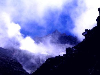 Volcanic smoke