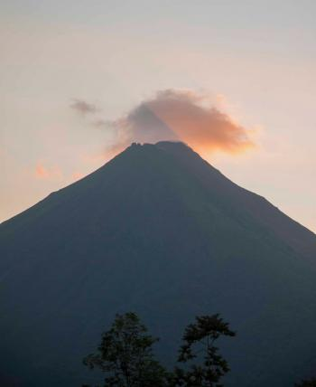 Volcano During Sunset