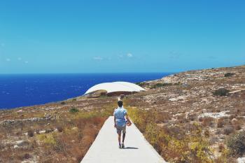 Walking to the Deep Blue Sea