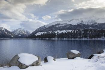 Wallowa Lake winter, Oregon