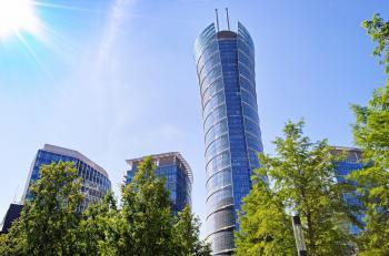 Warsaw Spire Glass Window Building Skyscraper