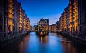 Water Canal Hamburg, Germany