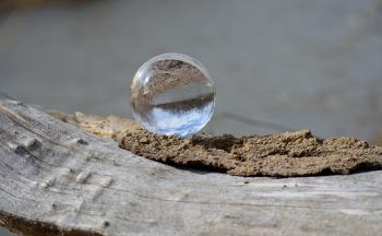 Water Drop on Brown Surface