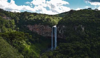 Waterfalls on Cliff