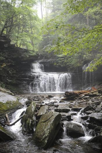 Waterfalls Ricketts Glen State Park