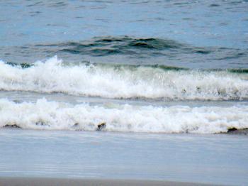 Waves Crashing On Beach
