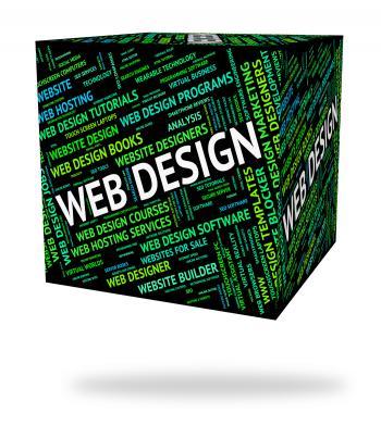 Web Design Represents Word Designers And Websites