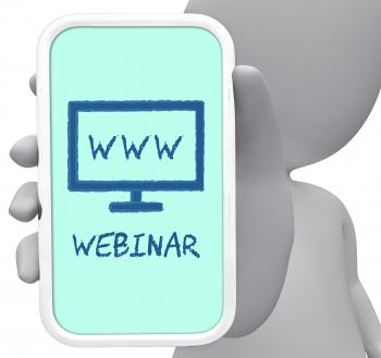 Webinar Online Means Internet Skills 3d Rendering
