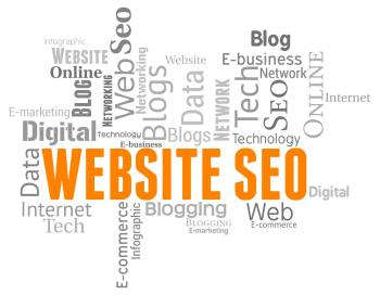 Website Seo Represents Search Engine And Internet