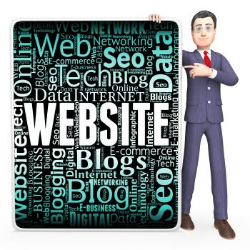 Website Sign Indicates Www Websites And Board
