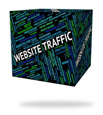 Website Traffic Means Domains Www And Words