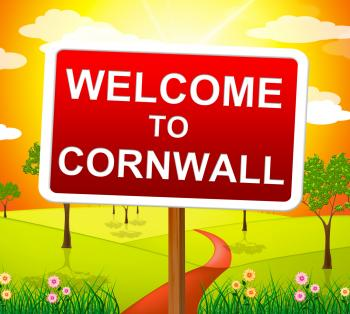 Welcome To Cornwall Shows United Kingdom And Britain