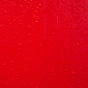 Wet red wall
