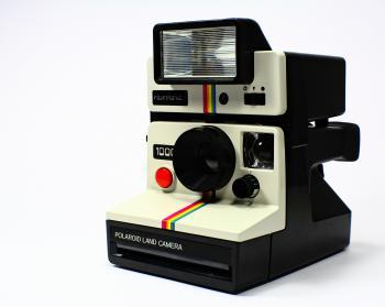 White and Black Polariod Land Camera