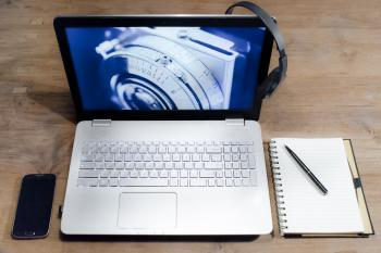 White Black Laptop Computer