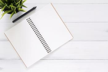 White Blank Notebook