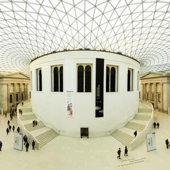 White Building Interior With People